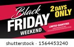 black friday sale poster layout ... | Shutterstock .eps vector #1564453240