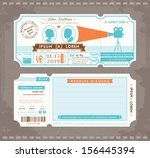 vector movie ticket wedding... | Shutterstock .eps vector #156445394