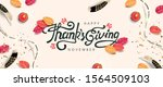 thanksgiving day banner... | Shutterstock .eps vector #1564509103