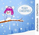 illustration for christmas... | Shutterstock .eps vector #156452126