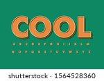 modern 3d font and alphabet for ...   Shutterstock .eps vector #1564528360
