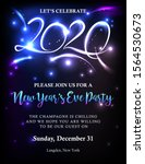 new years 2020 invitation with... | Shutterstock .eps vector #1564530673