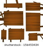 wooden boards | Shutterstock . vector #156453434