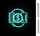 money turnover card neon icon....