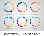 colorful 3d circle arrows set... | Shutterstock .eps vector #1564551226