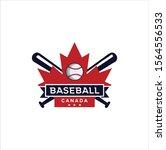 canadian baseball logo design... | Shutterstock .eps vector #1564556533