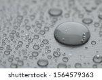 water drops on grey background  ...   Shutterstock . vector #1564579363