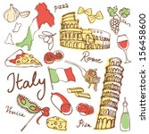 set of italy icons vector... | Shutterstock .eps vector #156458600