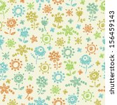 decorative seamless doodle... | Shutterstock .eps vector #156459143