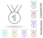 medal with ribbon multi color...
