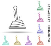 shift knob multi color icon....