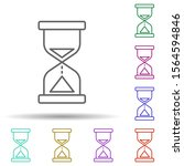 hourglass multi color icon....
