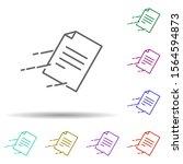 fast mail multi color icon....