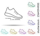 sneakers multi color icon....