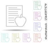 health food multi color icon....