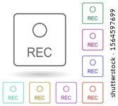 record button multi color icon. ...
