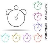 alarm clock multi color icon....