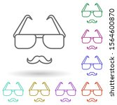 glasses and mustaches multi...