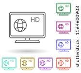 news channel on tv multi color...