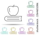 apple and book multi color icon....