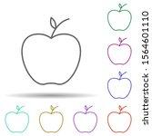 an apple multi color icon....