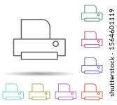 printer multi color icon....