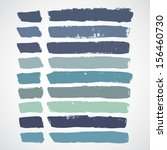 vector set of grunge colorful... | Shutterstock .eps vector #156460730