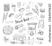 vector sketch collection of... | Shutterstock .eps vector #1564643620