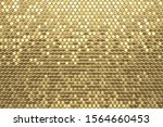 gold foil hexagon textured... | Shutterstock . vector #1564660453