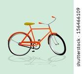 retro illustration bicycle.... | Shutterstock .eps vector #156466109