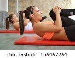 beautiful young women working... | Shutterstock . vector #156467264