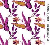 watercolor seamless pattern... | Shutterstock . vector #1564678093