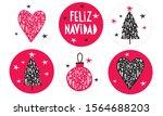 feliz navidad   merry christmas.... | Shutterstock .eps vector #1564688203