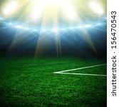 soccer ball on the green field  | Shutterstock . vector #156470543