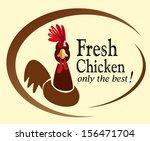retro chicken sign label | Shutterstock .eps vector #156471704