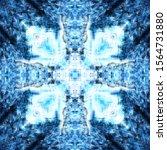 halftone blue ornament  winter... | Shutterstock .eps vector #1564731880