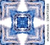 halftone blue ornament  winter... | Shutterstock .eps vector #1564731883