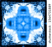 halftone blue ornament  winter... | Shutterstock .eps vector #1564731889