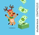 vector cartoon happy christmas... | Shutterstock .eps vector #1564741213