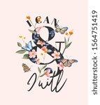 typography slogan on flower... | Shutterstock .eps vector #1564751419