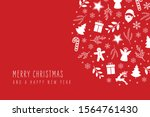 christmas icon elements... | Shutterstock .eps vector #1564761430