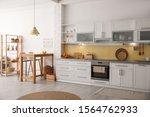 Modern Kitchen Interior With...