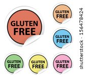 vector  gluten free colorful... | Shutterstock .eps vector #156478424