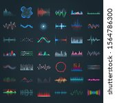 sound wave  vector different... | Shutterstock .eps vector #1564786300