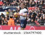 Small photo of LONDON, ENGLAND - FEBRUARY 10, 2019: Oliver Skipp of Tottenham pictured during the 2018/19 Premier League game between Tottenham Hotspur and Leicester City at Wembley Stadium.