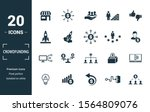 Crowdfunding Icon Set. Include...