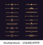 set of art deco gold ornament.... | Shutterstock .eps vector #1564814959