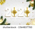 happy new year greeting card ... | Shutterstock .eps vector #1564837783
