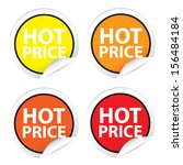 hot price stickers  labels.... | Shutterstock .eps vector #156484184
