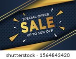 flash sale discount banner... | Shutterstock .eps vector #1564843420